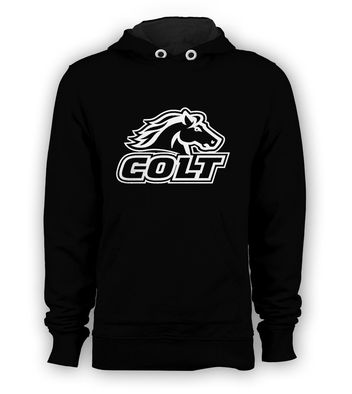 Colt Firearms Horse Logo Pullover Hoodie Men Sweatshirts Size S to 3XL New Black