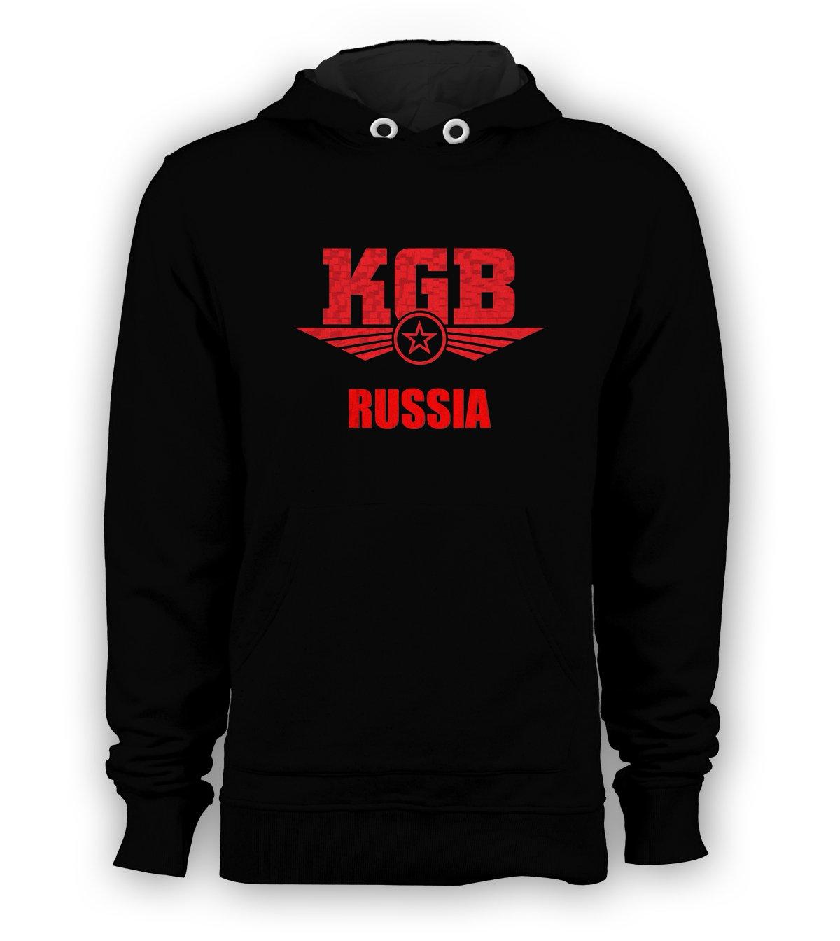 KGB Russia Pullover Hoodie Men USSR Spy Agent Vladimir Putin Sweatshirts Size S to 3XL New Black