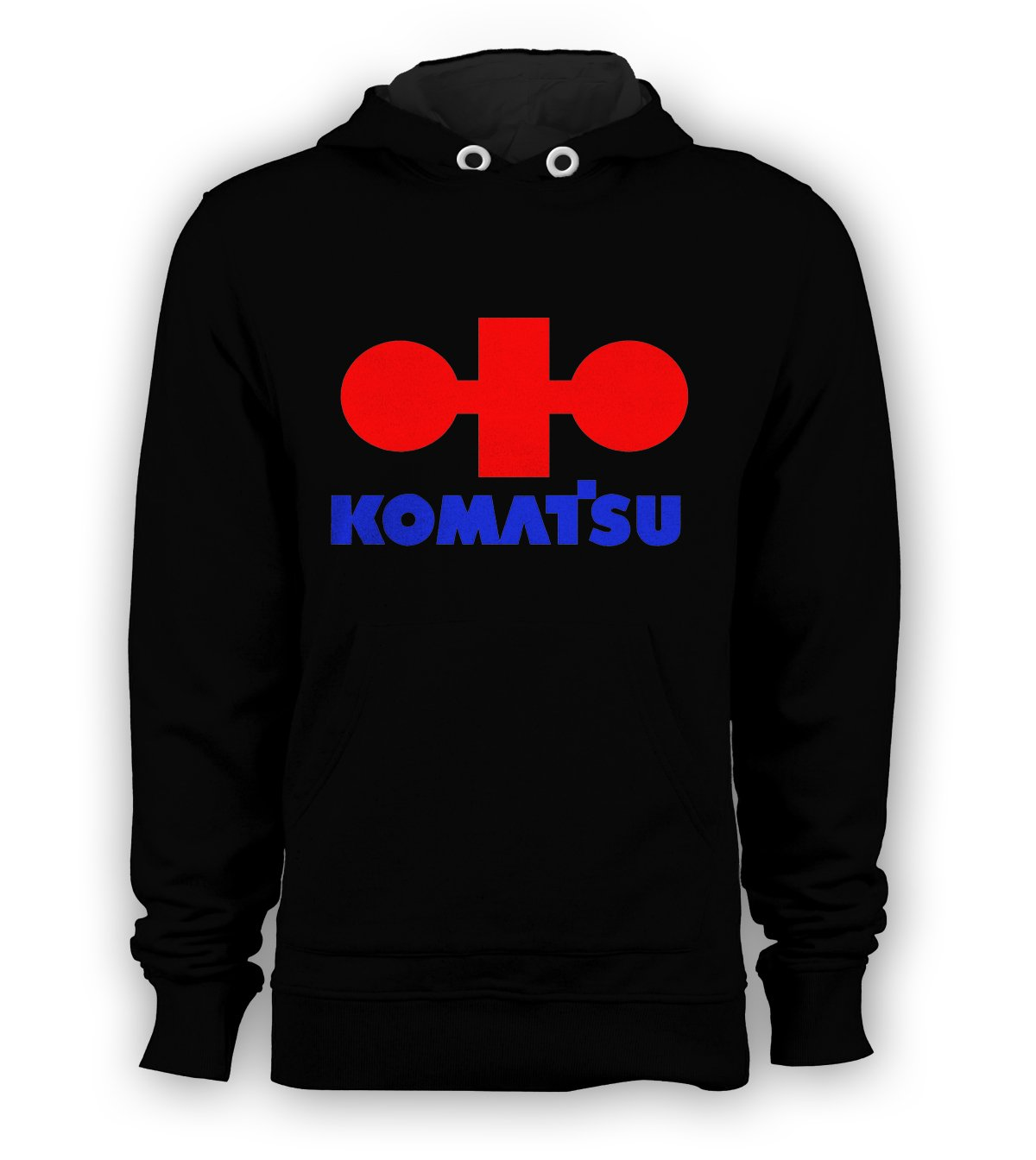 Komatsu Logo Pullover Hoodie Men Sweatshirts Size S to 3XL New Black