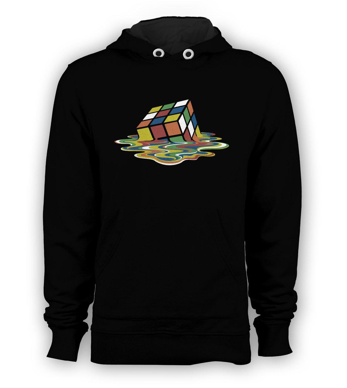 Melting Rubiks Cube Sheldon Cooper Big Bang Theory Pullover Hoodie Men Sweatshirts Size S to 3XL