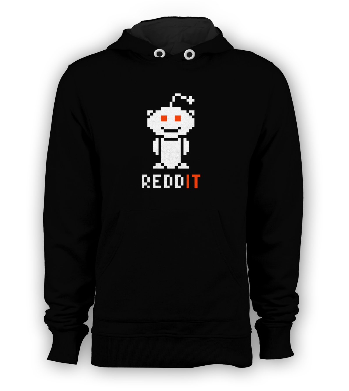Reddit Logo Pullover Hoodie Men Sweatshirts Size S to 3XL New Black