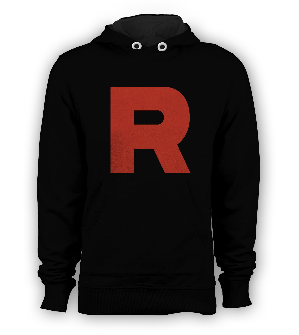 Team Rocket R Symbol Pokemon Pullover Hoodie Men Sweatshirts Size S to 3XL New Black
