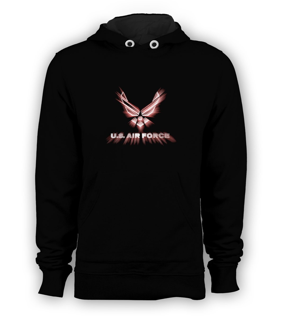 US Air Force Pullover Hoodie Men Sweatshirts Size S to 3XL New Black
