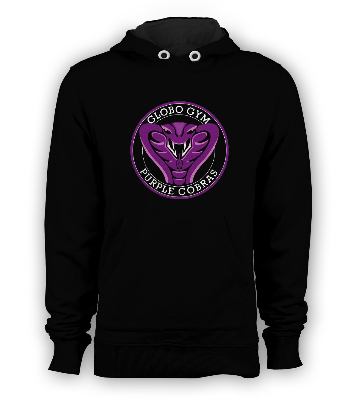GLOBO GYM PURPLE COBRAS DODGEBALL Pullover Hoodie Men Sweatshirts Size S to 3XL New Black