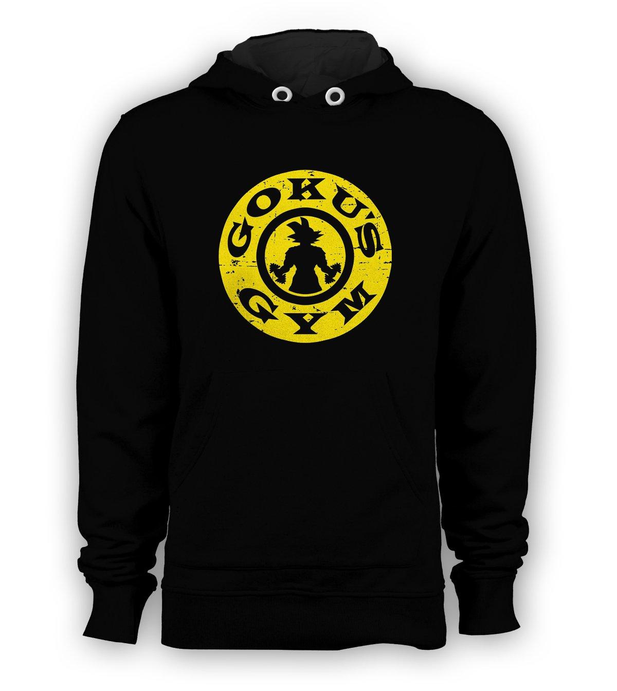 Goku's Gym Bro DBZ Super Saiyan Gym Exercise Pullover Hoodie Men Sweatshirts Size S to 3XL New Black