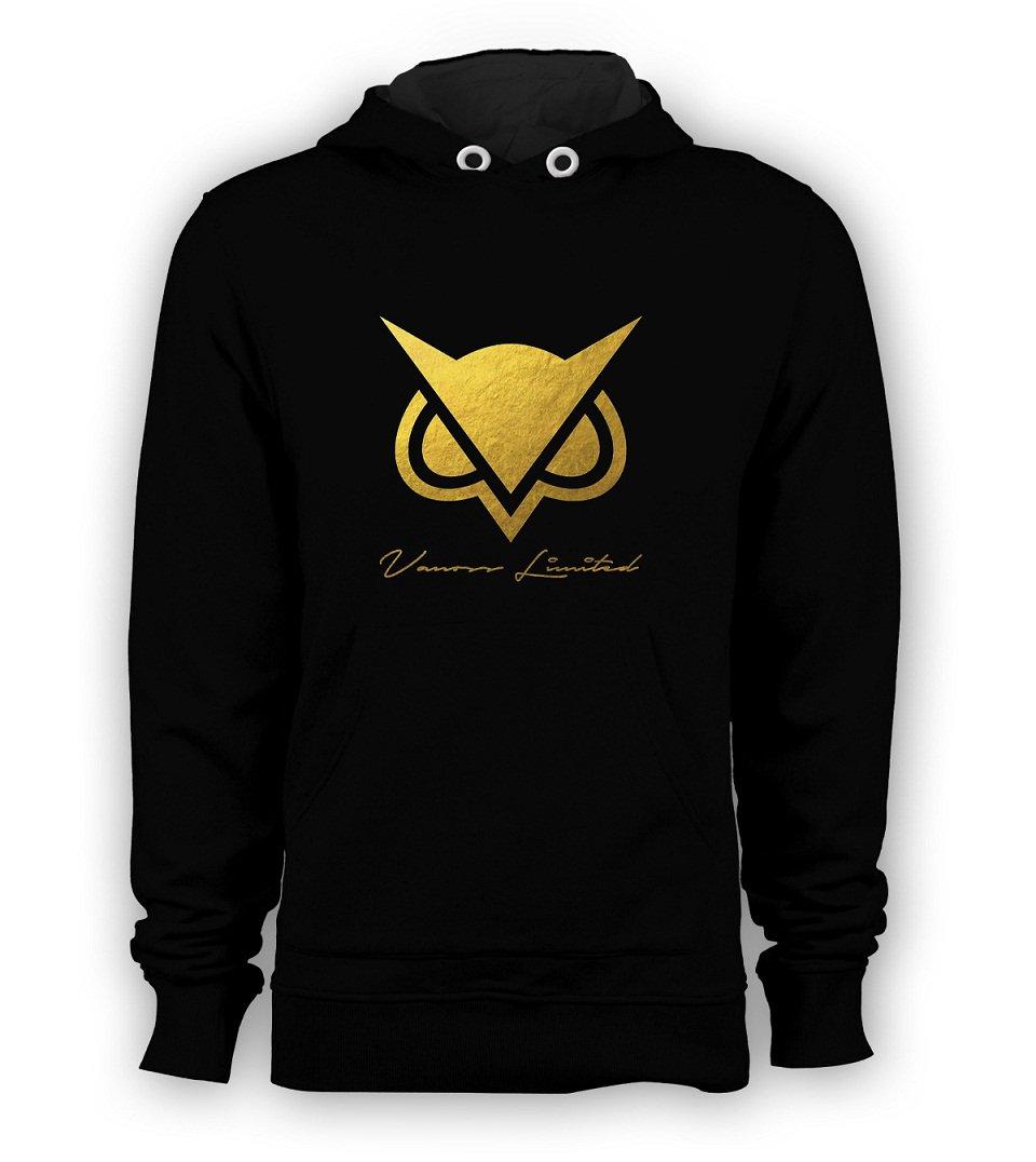 Vanoss Game Owl Hodini Gold Logo Pullover Hoodie Vanossgaming Youtuber Men Sweatshirts S-3XL Black