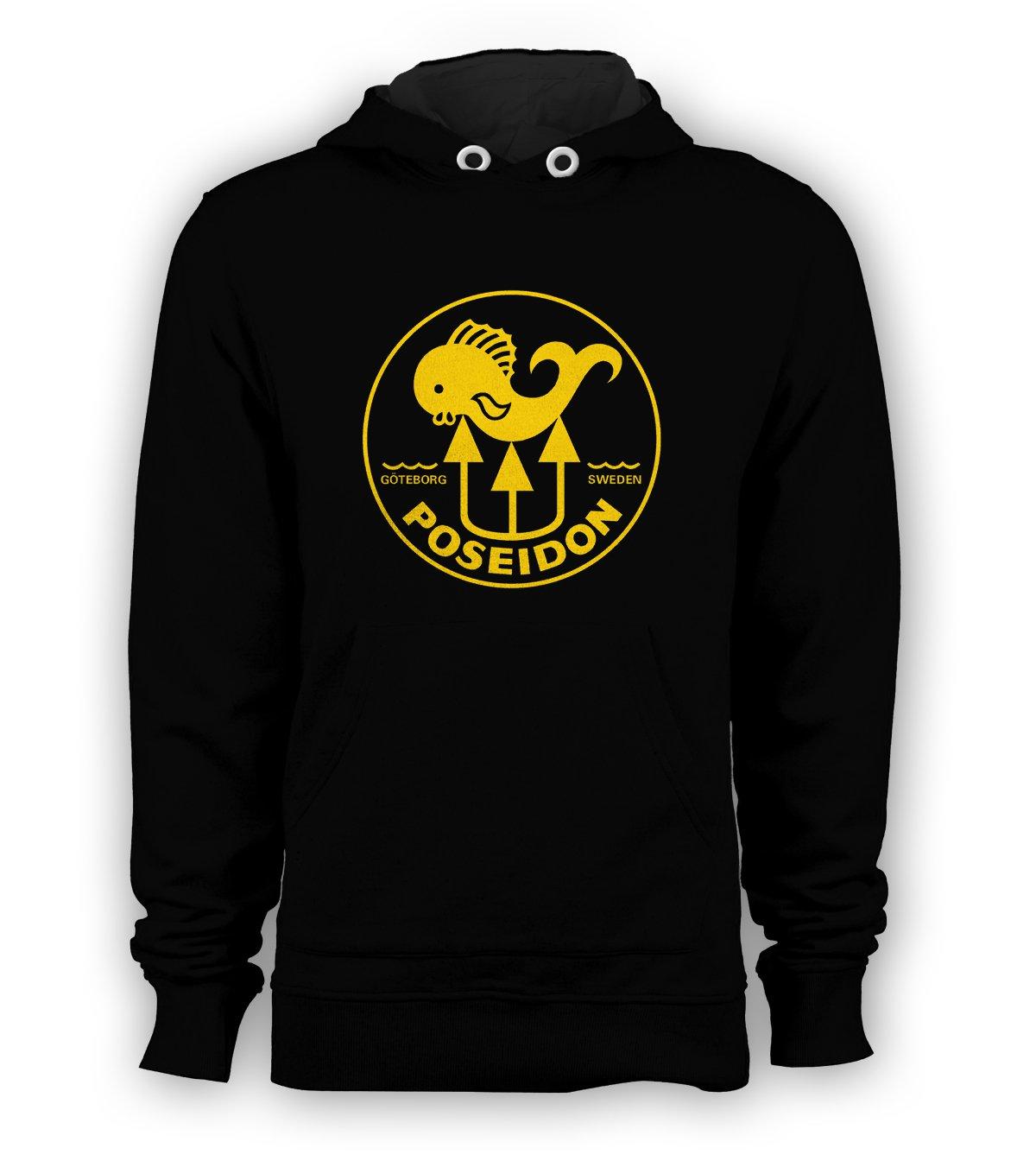 POSEIDON Scuba Diving Logo Pullover Hoodie Men Sweatshirt Black Hooded New