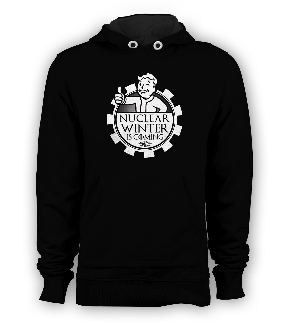 Nuclear Winter is Coming Pullover Hoodie Men Fallout Sweatshirts Black New