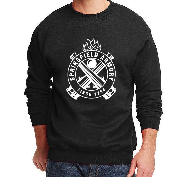 Springfield Armory Sweater Pro Gun Men Sweatshirt Jumper Black New