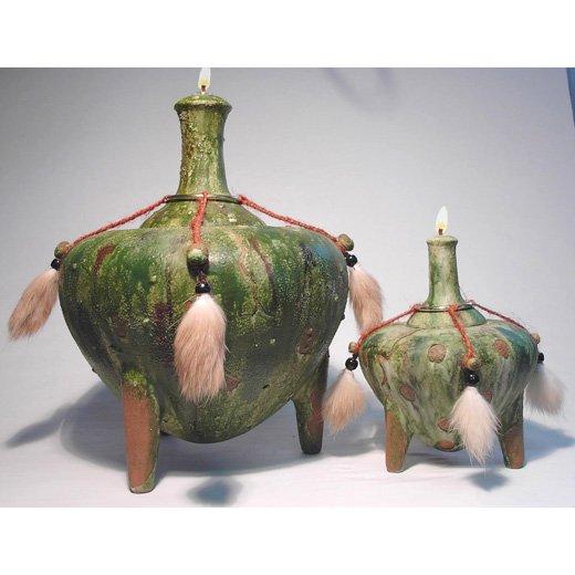 SEZER Genie of WISDOM Ceramic Oil Lamp SMALL 6 inch #2003