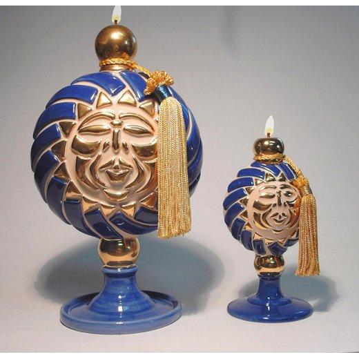 LEMI Genie Lamp of SHINE Ceramic Oil Lamp Large 10 inch #2610