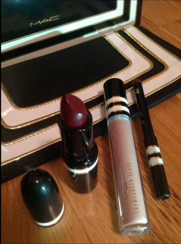MAC STROKE OF MIDNIGHT 2013 VIOLET LIP SET w/AMPLIFIED DARK DEED LIPSTICK AUTHENTIC NEW IN BOX
