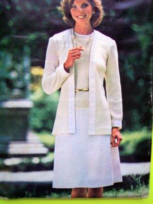 Uncut 70's Vintage B 32.5 Sleeveless Dress & Cardigan Jacket See & Sew Sewing Pattern 5776