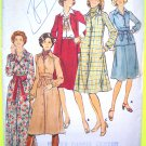 Uncut 1970's Vintage Dress Top Skirt OBI Sash B 32.5 Butterick Sewing Pattern 4476