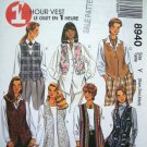 90's McCall's 1 Hour Vest Sewing Pattern 8940 Sz Misses 4 6 8 10 12 14
