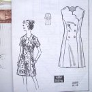 Uncut 70s Scalloped DRESS Princess A Line B 40 Plus Sz  Vintage Mail Order Sewing Pattern 3388