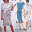 80s Vintage Sewing Pattern Dress Jacket Tie Waist Vest Suit B 32.5 36 Cut To Fit # 2376