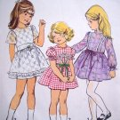 1970's Vintage Sewing Pattern 2 3 T Girls Dress Empire Waist Puff Flutter Long Sleeves 6819
