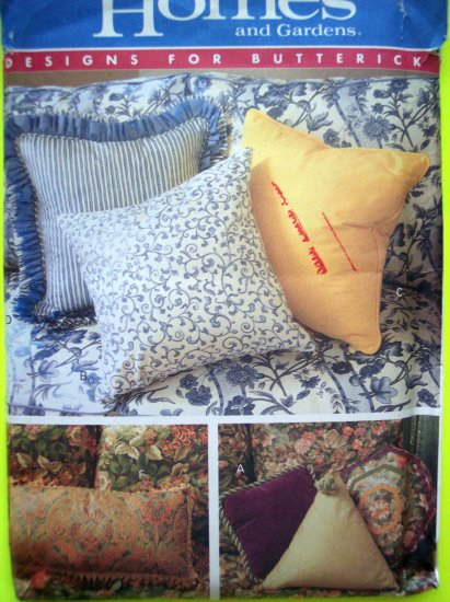 10 Pillows Better Homes Butterick Sewing Pattern 4593 Clearance Patterns 5 Five DOllars or Less