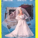 "70's Vintage Coats & Clark All For Dolls Crochet Barbie Ken & 13"" Doll Crocheting Clothes Patterns"