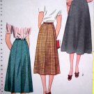 40s Vintage Waist 28 Skirt Gored & Pleated Look Rockabilly Retro Simplicity Sewing Pattern 2339