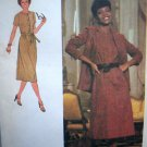 70s Vintage B 32.5 Dress Neck Bands Front Button ShirtWaist Unlined Jacket Belt Sewing Pattern 9145