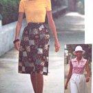 70's Vintage Sewing Pattern Sz 12 14 Wrap Skirt Shirt Boho Easy Simplicity Jiffy 7451
