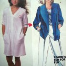 80s Vintage Sewing Pattern Brooke Shields Shirt Dress Pants B 34 Iron On Transfers McCall's 9438
