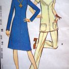 70's Vintage Sewing Pattern Dress B 38 Front & Back Yokes Tunic Top Shirt Pants Suit Thinner 2952