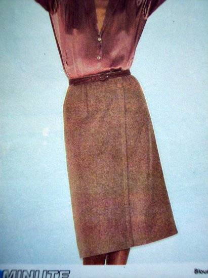 1970's Vintage Sewing Pattern Front Wrap Skirt NO Side Seams W 28 Uncut McCall's Easy 6777