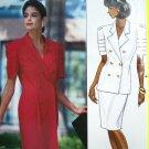 Uncut 90's Designer 2 pc Dress Top Skirt Suit B 36 38 40 Tucks Uncut Easy Sewing Pattern 4700