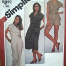 80's Vintage Sewing Pattern Wrap Top Pants Shorts Skirt 2 Pc Dress Sz 12 14 16 Easy Simplicity 5375