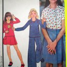 70s Girls Wrap Skirt Top Pants Waist 25 1/2 Vintage NEW Retro Easy McCall's Sewing Pattern 4895