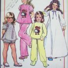 70s Girls Vintage Sewing Pattern Raggedy Ann Andy Transfer Babydoll & Winter Pajamas Gown Pjs  5255