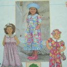 5.00 OR LESS Sewing Pattern Sale Girls Dress Empire Waist Ruffle Jumpsuit Hat Purse Sz 5 # 8049