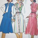 70&#39;s Dress Stand UP Collar  Cap Sleeve Top Skirt B 32.5 Vintage Sewing Pattern 7350