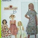 90s New Girls 3 4 5 6 Midi Empire Dress & Ruffle Petticoat Full Skirt Sewing Pattern 8652