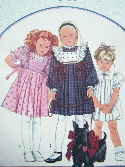 80s Cinderella Girls Dress Sz 5 Lace Ruffles Puff Sleeve Detach Tabard Vintage Sewing Pattern 7006