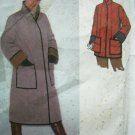 70's Vintage Sewing Pattern Quilted Coat Jacket  B 30.5~31.5 Hippie Big Pocket Stand Up Collar 9169