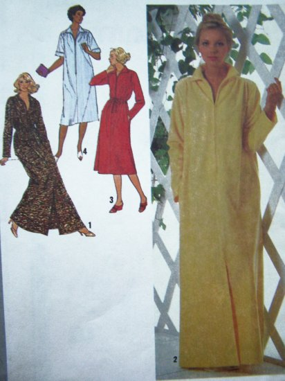 $5 70s Vintage Petite Robe Patio Midi or Maxi Loungewear Dress B 30.5  31.5 Sewing Pattern 9048