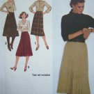 3.00 Vintage Sewing Pattern Set of Skirts Sz 8 Wrap Pleats Double Inverted Pleat Simplicity 9176
