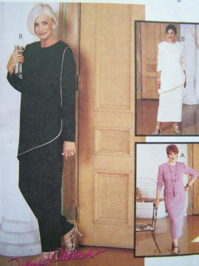 6.00 Sewing Pattern Asymmetrical Jewel Neck Tunic Top Plus Size 20W Skirt Pants McCall's 9288