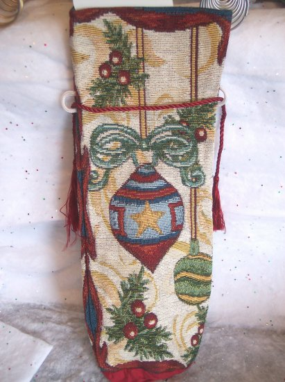 New Wine Liquor Bottle Vintage Ornaments Tapestry Fabric Wrapping Cover Christmas Xmas Gift Wrap