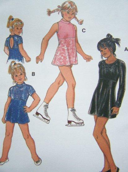 $3 Toddler Girls Sz 4 T Leotard A line Skirt Empire WaisT Skating Sewing Pattern 2886