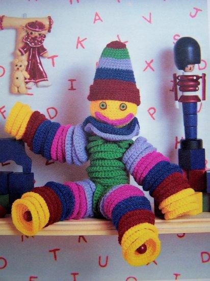 Yo Yo Doll Crochet Pattern Flexible Friend Crocheting Instruction Sheet