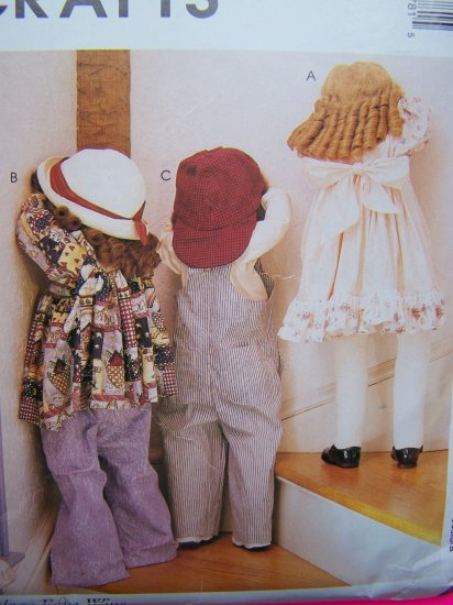 Time Out Dolls & Clothes Sewing Pattern Hide Seek Dolls Shy Babies McCall's Crafts P378