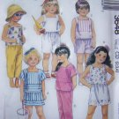 Toddler Girls 2 3 4T Summer Beach Top Skirt Pants Shorts Shirt Easy Sewing Pattern 3648