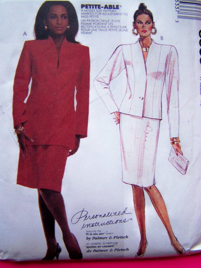 Plus Size Vintage Sewing Pattern Straight Skirt Lined Jacket Sz 18 Petite Able McCall's 3533