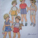 Vintage Sewing Pattern Toddler Girls Halter Top Pantskirt Shorts Sz 2T Pullover Shirt Skort # 7503