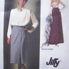 1970's Vintage Sewing Pattern Wrap Skirt Midi Maxi Size 6 Easy Simplicity 9113